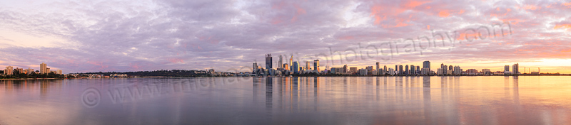 Perth and the Swan River at Sunrise, 27th May 2015