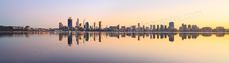 Perth and the Swan River at Sunrise, 31st May 2015