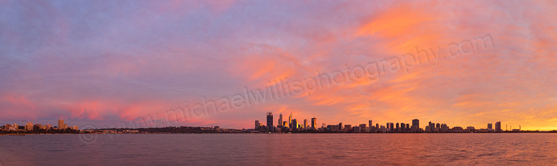Perth and the Swan River at Sunrise, 1st June 2015