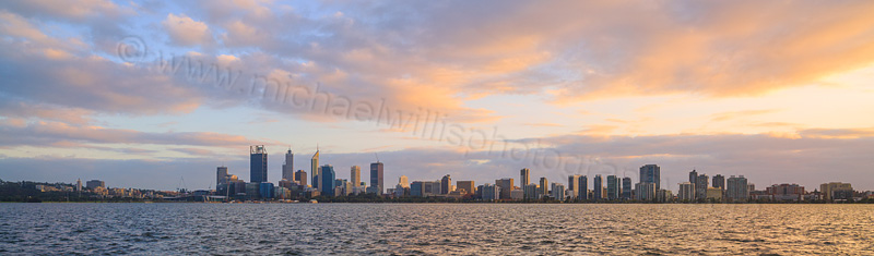 Perth and the Swan River at Sunrise, 4th June 2015