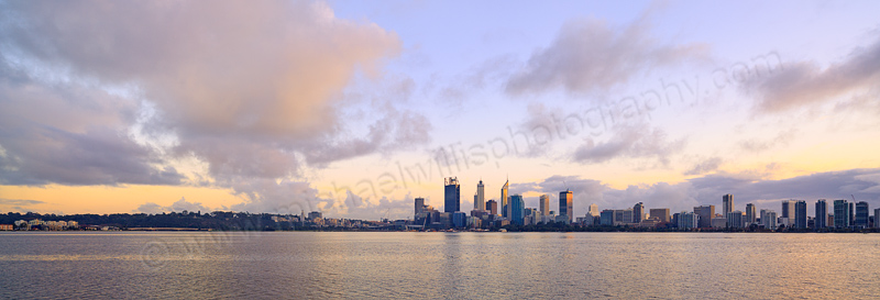 Perth and the Swan River at Sunrise, 6th June 2015