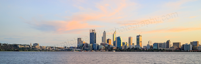 Perth and the Swan River at Sunrise, 9th June 2015