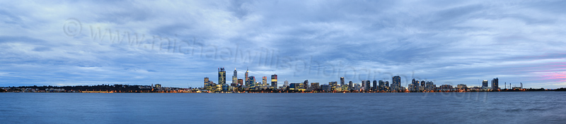 Perth and the Swan River at Sunrise, 17th June 2015