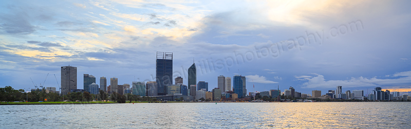 Perth and the Swan River at Sunrise, 18th June 2015