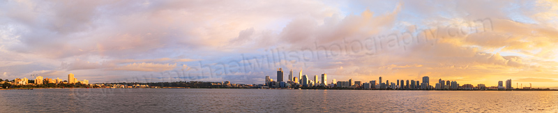 Perth and the Swan River at Sunrise, 19th June 2015