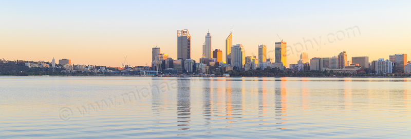 Perth and the Swan River at Sunrise, 23rd June 2015
