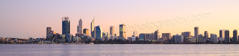 Perth and the Swan River at Sunrise, 24th June 2015