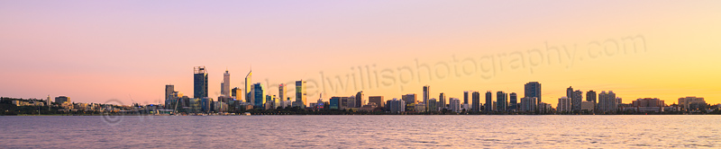 Perth and the Swan River at Sunrise, 29th June 2015