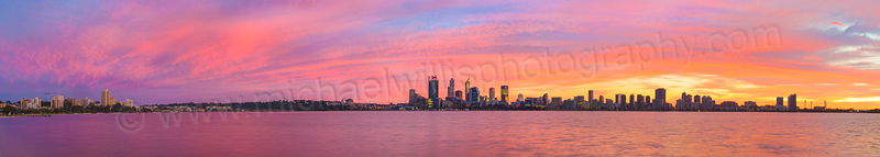 Perth and the Swan River at Sunrise, 30th June 2015