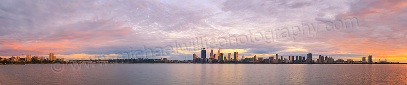 Perth and the Swan River at Sunrise, 1st July 2015
