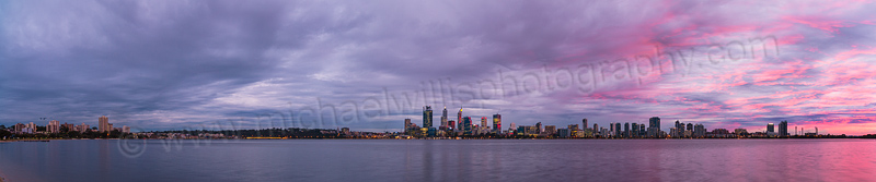 Perth and the Swan River at Sunrise, 2nd July 2015
