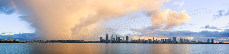 Perth and the Swan River at Sunrise, 3rd July 2015