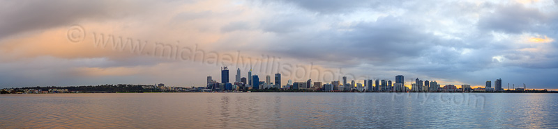 Perth and the Swan River at Sunrise, 7th July 2015