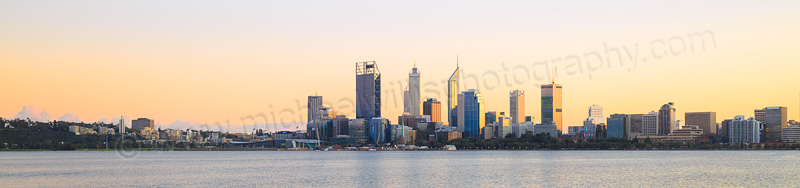 Perth and the Swan River at Sunrise, 8th July 2015