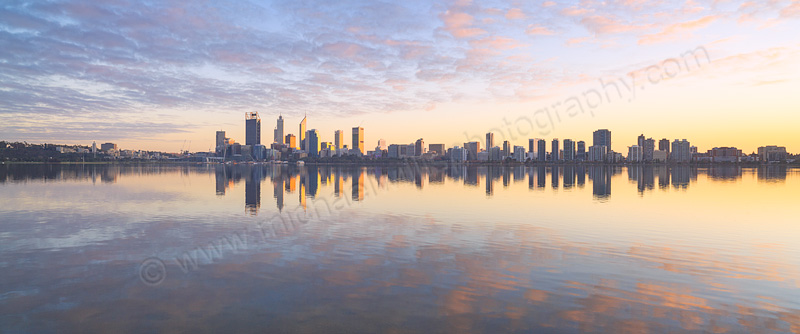 Perth and the Swan River at Sunrise, 11th July 2015