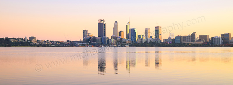Perth and the Swan River at Sunrise, 12th July 2015