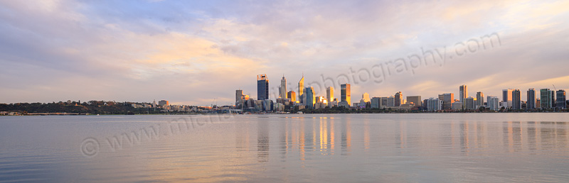 Perth and the Swan River at Sunrise, 13th July 2015