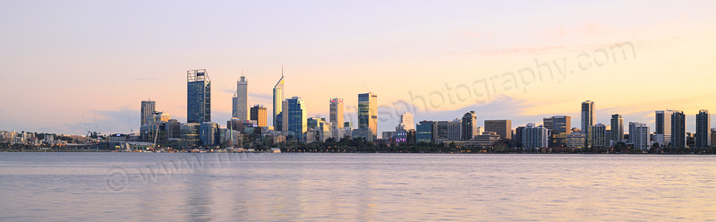 Perth and the Swan River at Sunrise, 14th July 2015