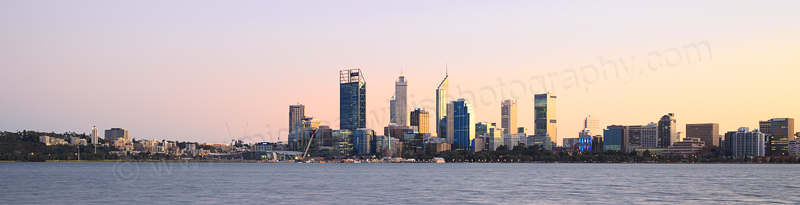 Perth and the Swan River at Sunrise, 16th July 2015