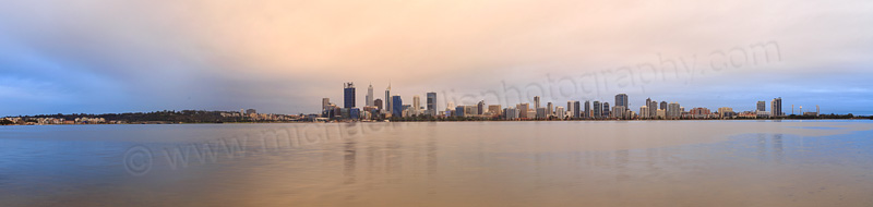 Perth and the Swan River at Sunrise, 18th July 2015