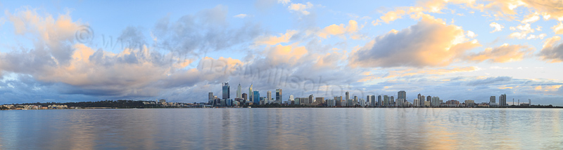 Perth and the Swan River at Sunrise, 20th July 2015