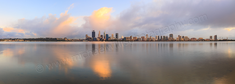 Perth and the Swan River at Sunrise, 21st July 2015