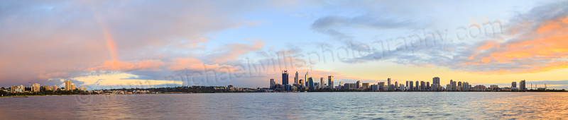 Perth and the Swan River at Sunrise, 22nd July 2015