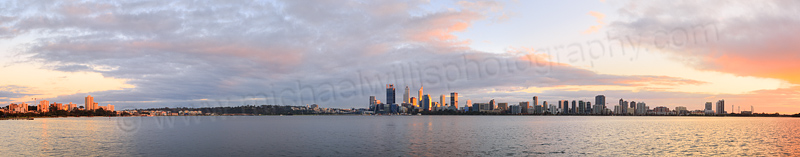 Perth and the Swan River at Sunrise, 25th July 2015