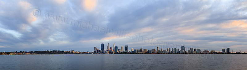 Perth and the Swan River at Sunrise, 27th July 2015