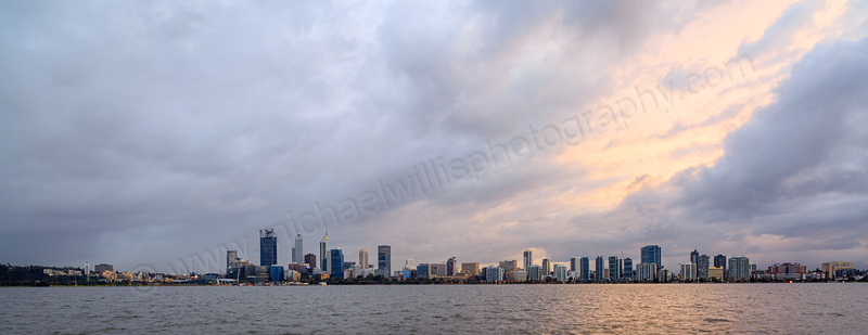 Perth and the Swan River at Sunrise, 31st July 2015