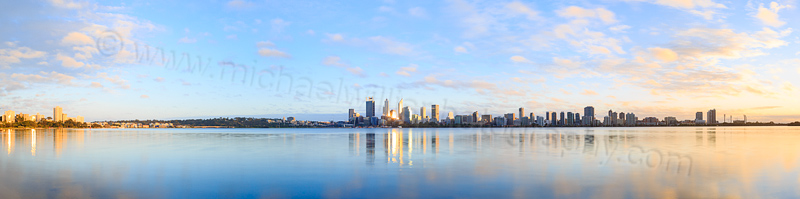Perth and the Swan River at Sunrise, 1st August 2015