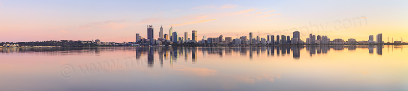 Perth and the Swan River at Sunrise, 3rd August 2015