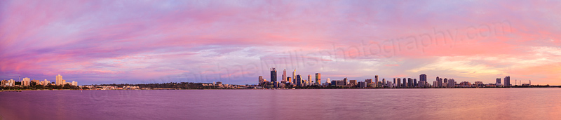 Perth and the Swan River at Sunrise, 6th August 2015