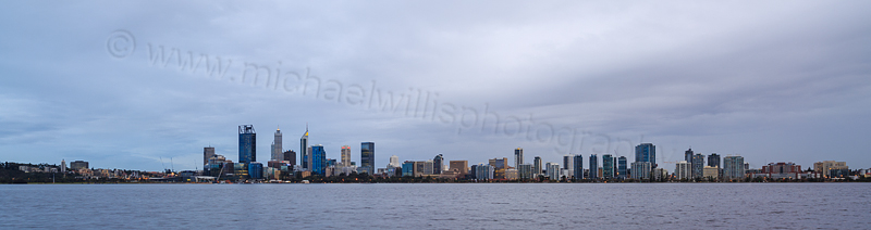 Perth and the Swan River at Sunrise, 7th August 2015