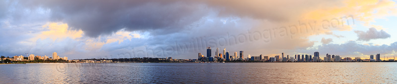 Perth and the Swan River at Sunrise, 10th August 2015