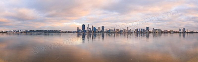 Perth and the Swan River at Sunrise, 13th August 2015