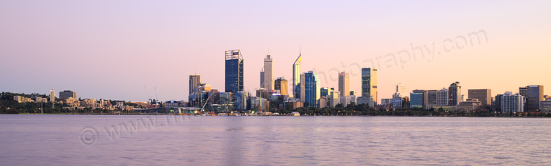 Perth and the Swan River at Sunrise, 15th August 2015