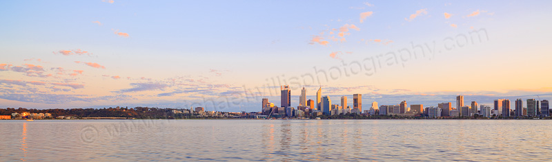 Perth and the Swan River at Sunrise, 16th August 2015