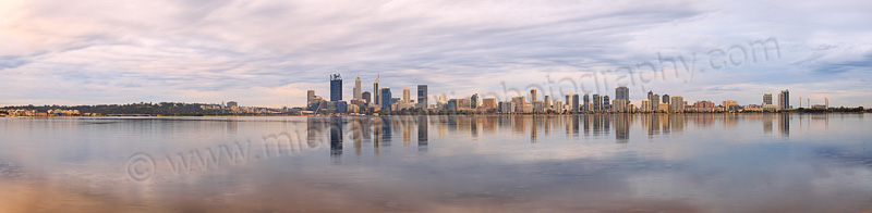 Perth and the Swan River at Sunrise, 17th August 2015