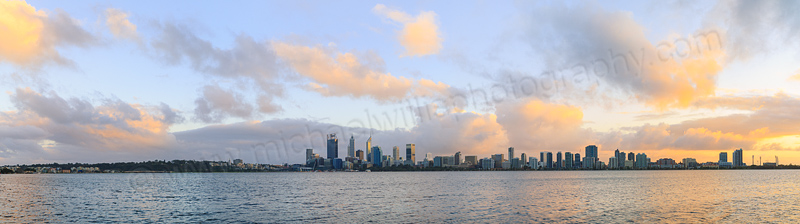 Perth and the Swan River at Sunrise, 18th August 2015