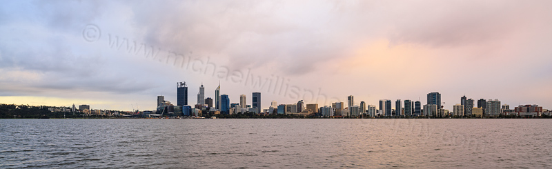Perth and the Swan River at Sunrise, 19th August 2015