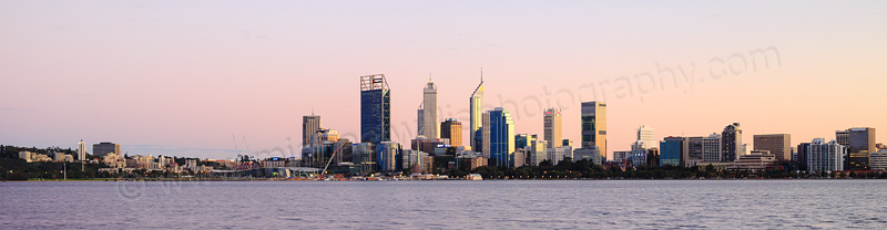 Perth and the Swan River at Sunrise, 25th August 2015