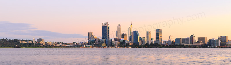 Perth and the Swan River at Sunrise, 27th August 2015