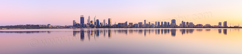 Perth and the Swan River at Sunrise, 6th September 2015