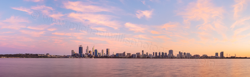 Perth and the Swan River at Sunrise, 8th September 2015