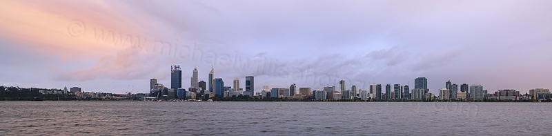 Perth and the Swan River at Sunrise, 12th September 2015