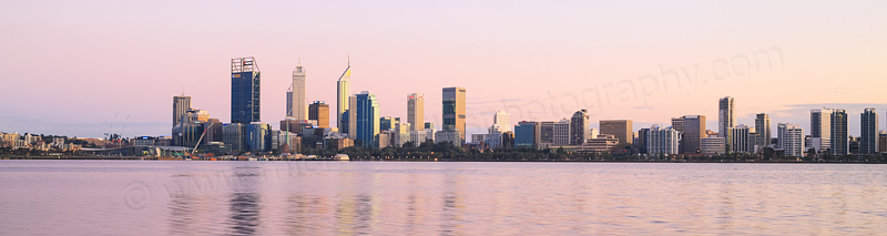Perth and the Swan River at Sunrise, 13th September 2015