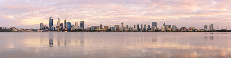 Perth and the Swan River at Sunrise, 15th September 2015