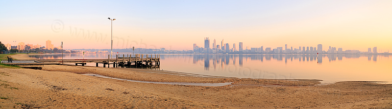Perth and the Swan River at Sunrise, 18th September 2015