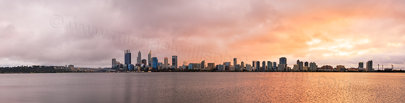 Perth and the Swan River at Sunrise, 19th September 2015